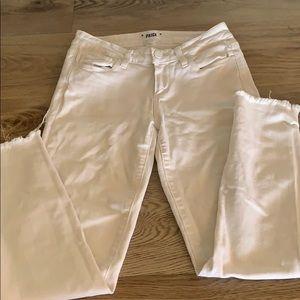 Paige white verdugo cropped skinny jeans
